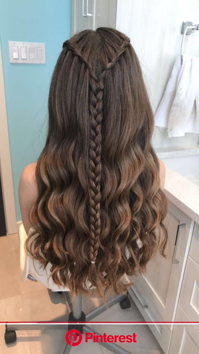 30+ Waterfall Braid Hairstyles that looks flirty and fashionable - Hike n Dip in 2020 | Braided hairstyles, Waterfall braid hairstyle, Thick hair styl
