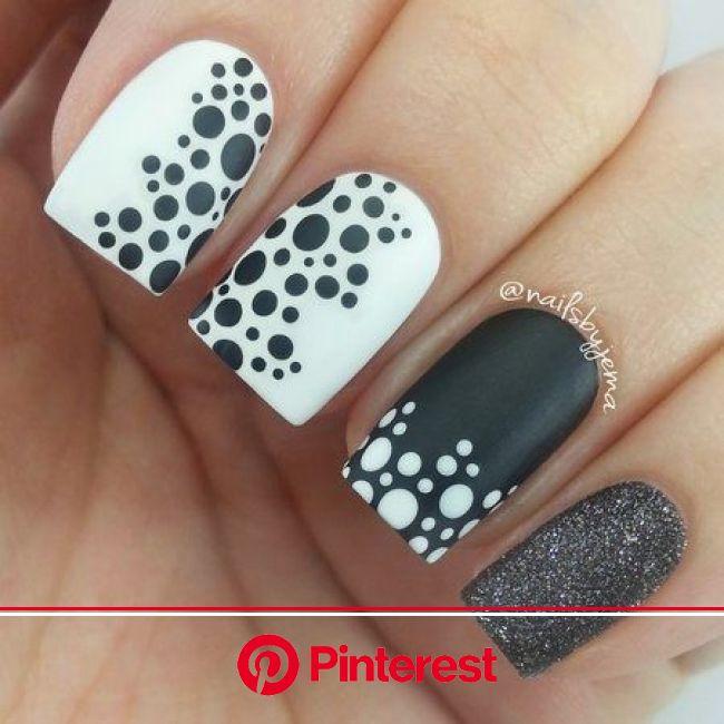 Contact Support | Dot nail art, Polka dot nail art, Black nail designs
