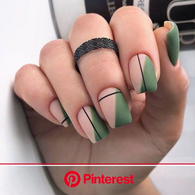 Lovely Square Nails for You to Try | NailDesignsJournal.com | Neutral nail art designs, Square nail designs, Square nails