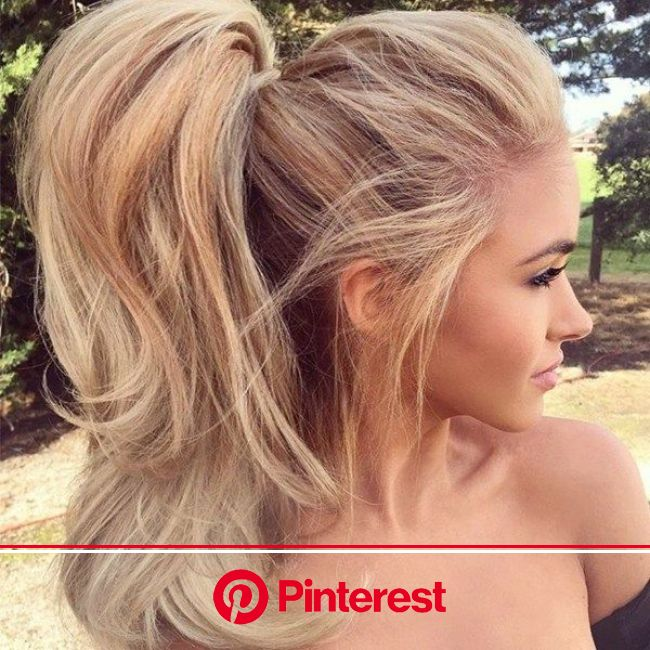 Dramatic Ponytails | Ponytail hairstyles, Blonde ponytail, Great hair