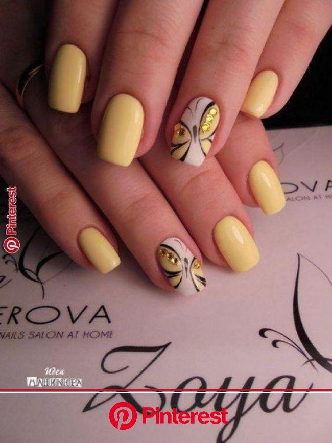 Οι ζωγραφιές στα νύχια είναι η απόλυτη τάση για την Άνοιξη του 2020 - Δες 25 υπέροχες ιδέες | Yellow nails, Yellow nail art, Nail designs