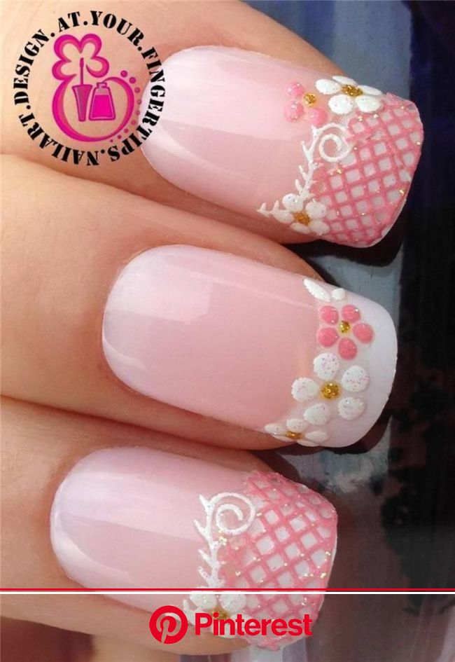 PINK WHITE GLITTER NAIL ART LACE WATER FLOWER TIPS STICKERS DECAL TRANSFERS #535 | Health & Beauty, Nail Care, Manicu… | Lace nail art, Lace nails