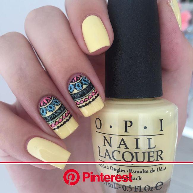 "108 Likes, 3 Comments - ????Aksinya???? (@nails_by_aksinya) on Instagram: ""Mandala nails ????  #nailf… | Uñas decoradas, Uñas decoradas amarillas, Uña"
