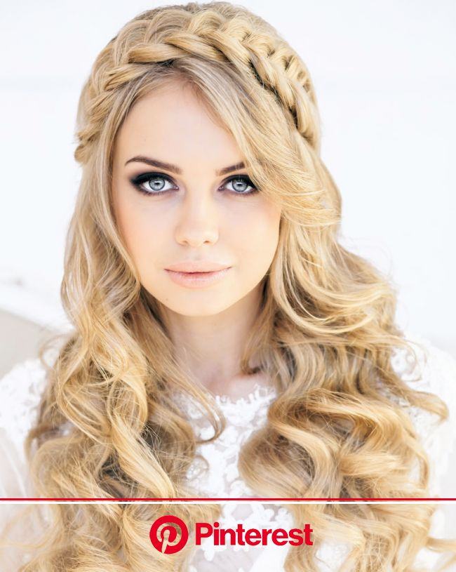 Wedding Hairstyle Ideas for Long Hair - MODwedding | Braided crown hairstyles, Long hair styles, Hair styles