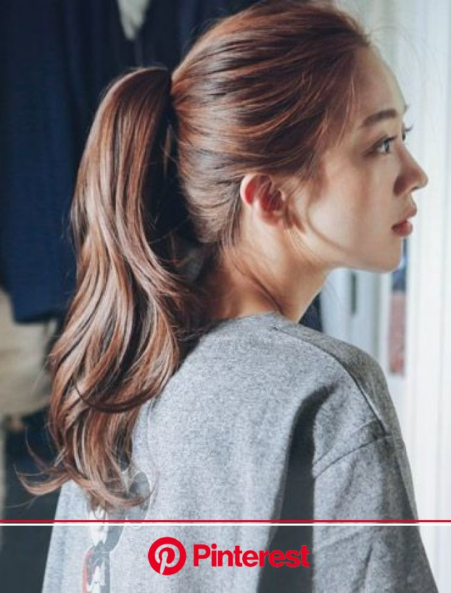 Soft feel, the daily ponytail style wig for sale. Womens Wigs Store [PINKAGE] Up Style Wig Clamp pin ponytail) Cl… | Hair styles, Ponytail styles, Kor