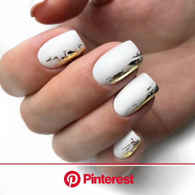 Дизайн ногтей тут! ♥Фото ♥Видео ♥Уроки маникюра | Manicura de uñas, Uñas decoradas en blanco, Uñas de gel cuadradas