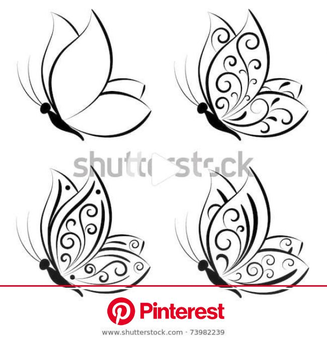 Find Butterfly Vector Set stock images in HD and millions of other royalty-free stock photos, illustratio… | Butterflies vector, Butterfly drawing, Bu