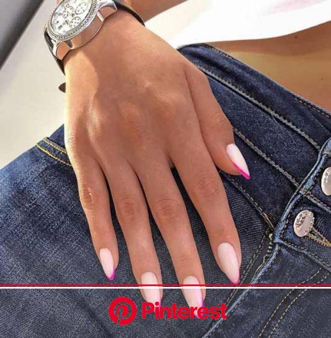 Красивый модный френч 2021: свежие идеи французского маникюра +фото в 2021г | Розовые блестящие ногти, Фиолетовые ногти, Дизайнерские ногти